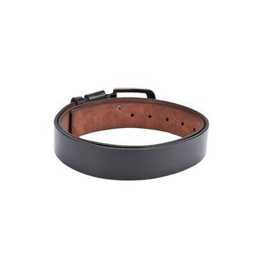Swiss Design Leatherite Casual Belt For Men_Sd09blk - Black