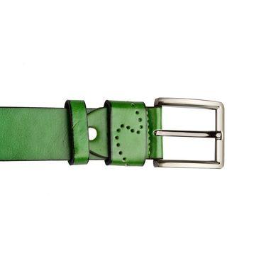 Swiss Design Leatherite Casual Belt For Men_Sd10gr - Green