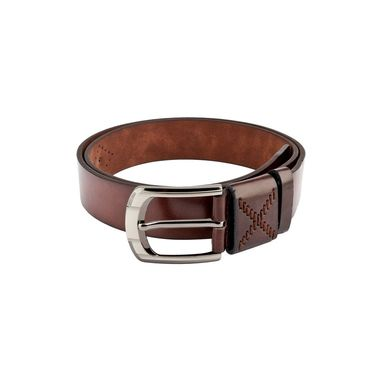 Swiss Design Leatherite Casual Belt For Men_Sd102br - Brown