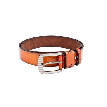 Swiss Design Leatherite Casual Belt For Men_Sd104tn - Tan