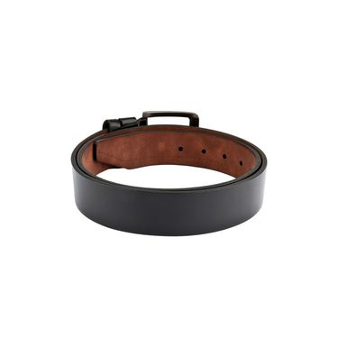 Swiss Design Leatherite Casual Belt For Men_Sd105blk - Black