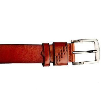Swiss Design Leatherite Casual Belt For Men_Sd119tn - Tan