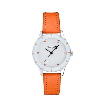 Mango People Round Dial Watch For Women_MP045OR01 - White