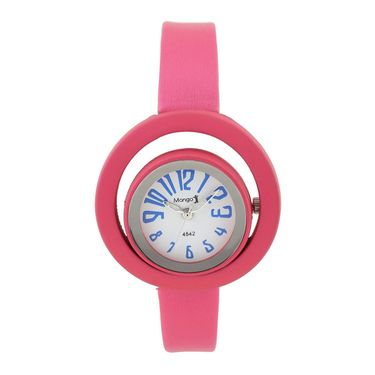 Mango People Round Dial Watch For Women_MP4542PK01 - White