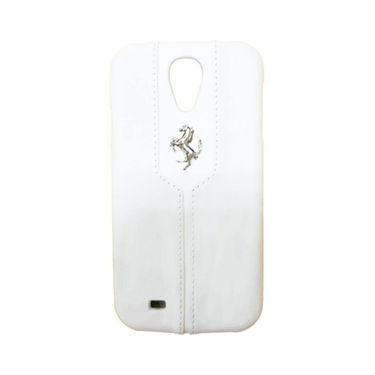 Ferrari Back Cover for Samsung Galaxy S4 ( White)