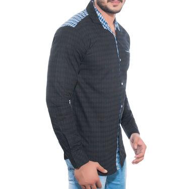Brohood Slim Fit Full Sleeve Cotton Shirt For Men_A5023 - Black