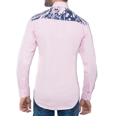 Brohood Slim Fit Full Sleeve Cotton Shirt For Men_A50143 - Pink