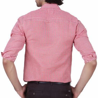 Mind The Gap Full Sleeves Shirt For Men_S7173 - Red & White