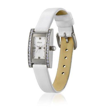 Oleva Analog Wrist Watch For Women_Olw5sw - Silver & White
