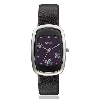 Oleva Analog Wrist Watch For Women_Olw17b - Black