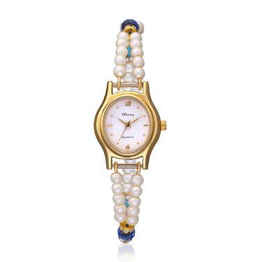 Oleva Analog Wrist Watch For Women_Opw82 - White