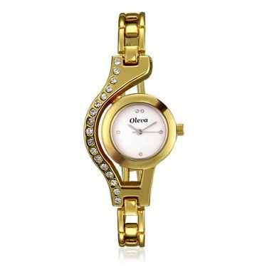 Oleva Analog Wrist Watch For Women_Osw21g - Golden