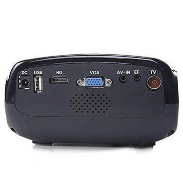 ZINGALALAA E03 16W Mini Multimedia LCD Image System LED Projector with HDMI / USB / VGA / Micro SD / TV Port - Black OPJ-320601