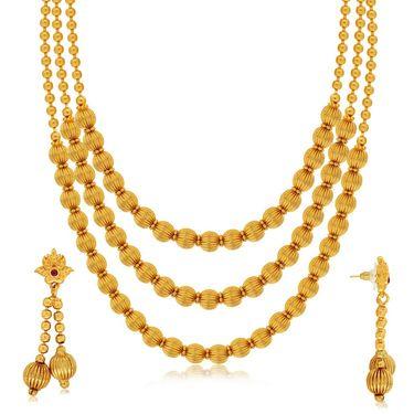 Spargz Brass Metal Necklace Set_Ains105