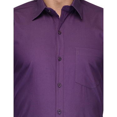 Being Fab Cotton Formal Shirt_Bfs09 - Purple