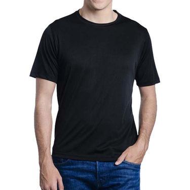 Pack of 2 Oh Fish Plain Round Neck Tshirts_Df2blkwht - Black & White