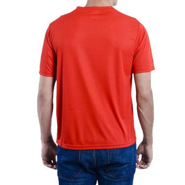 Pack of 4 Oh Fish Plain Round Neck Tshirts_Df4blkredwhtblu