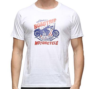 Effit Half Sleeves Round Neck Tshirt_Etscrn018 - White