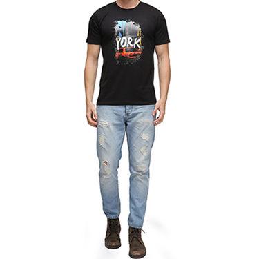 Effit Half Sleeves Round Neck Tshirt_Etscrn027 - Black