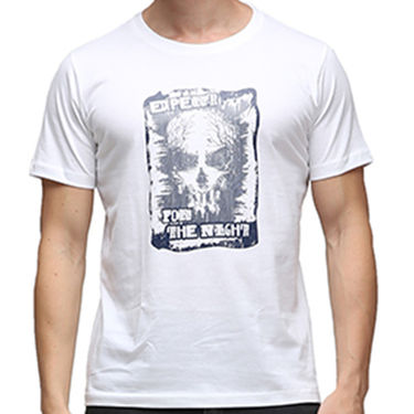 Effit Half Sleeves Round Neck Tshirt_Etscrn029 - White