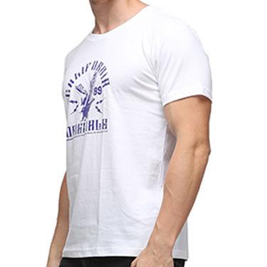 Effit Half Sleeves Round Neck Tshirt_Etscrn030 - White