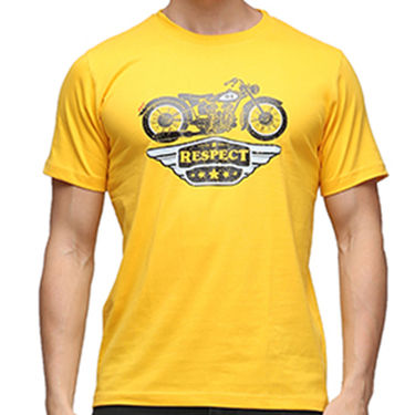 Effit Half Sleeves Round Neck Tshirt_Etscrnl003 - Yellow