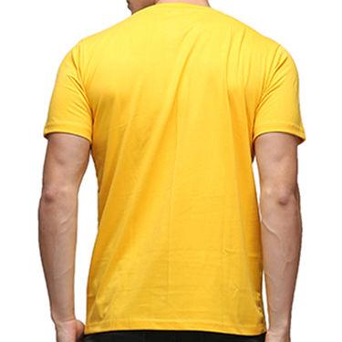 Effit Half Sleeves Round Neck Tshirt_Etscrnl009 - Yellow