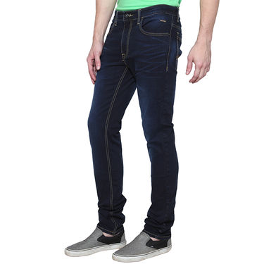 Branded Cotton Casual Jeans_Vdot - Blue