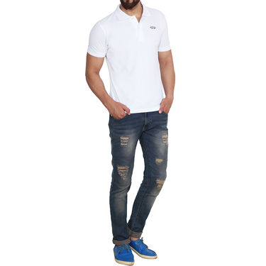 Branded Cotton Casual Tshirt_Arrow07 - White