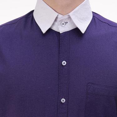 Plain Cotton Shirt_Gkchocopur - Purple