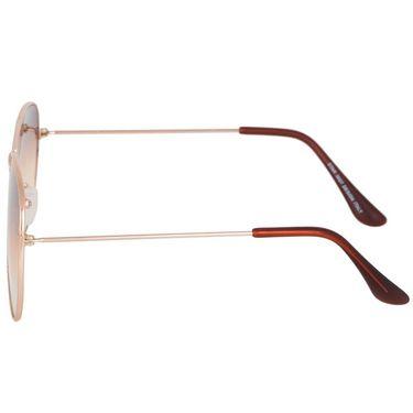Alee Aviator Metal Unisex Sunglasses_Rs0213 - Brown