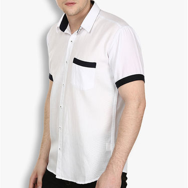 Pack of 2 Stylox Cotton Shirts_3338 - White & Black