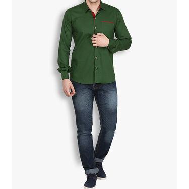 Stylox Cotton Shirt_olvep025 - Olive Green