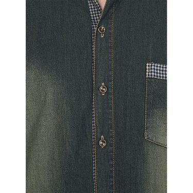 Stylox Cotton Shirt_rstdnm223 - Rust Blue