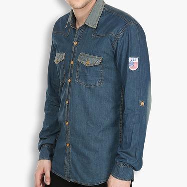 Stylox Cotton Shirt_Mbdenm210s - Medium Blue