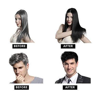 5min Instant Hair Coloring Shampoo - Pack Of 5 x 25ml + Aloe Vera Face Scrub