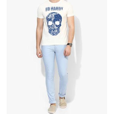 Branded Cotton Slim Fit Tshirt_Edof03 - White