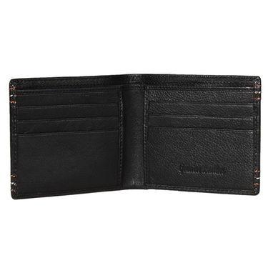 Spire Stylish Leather Wallet For Men_Smw108 - Black
