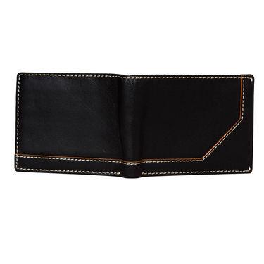 Spire Stylish Leather Wallet For Men_Smw142 - Black