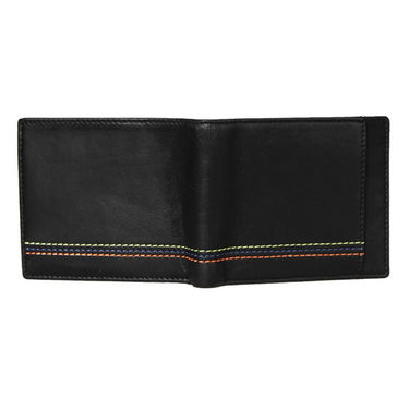 Spire Stylish Leather Wallet For Men_Smw151 - Black
