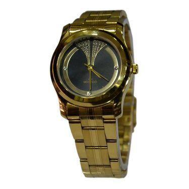 Branded Round Dial Analog Wrist Watch For Women_1403sm03 - Black