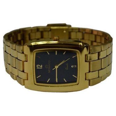 Branded Square Dial Analog Wrist Watch For Men_2305sm03 - Black
