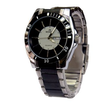 Branded Round Dial Analog Wrist Watch For Men_2305sm09 - Two Tone