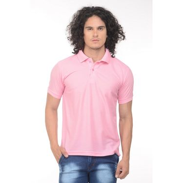 Plain Comfort Fit Blended Cotton TShirt_Ptlp - Light Pink