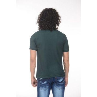 Plain Comfort Fit Blended Cotton TShirt_Ptgddg - Dark Green