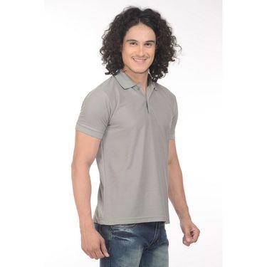 Plain Comfort Fit Blended Cotton TShirt_Ptgdmud - Grey