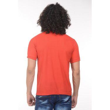 Plain Comfort Fit Blended Cotton TShirt_Ptgdr - Red