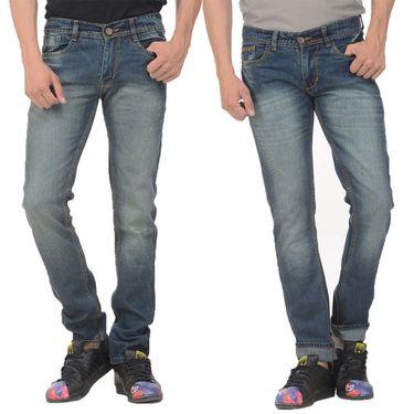 Pack of 2 Forest Plain Slim Fit Jeans_Jnfrt14 - Blue
