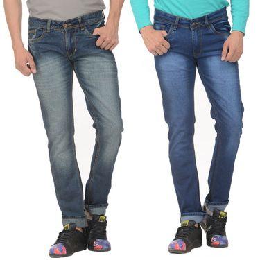Pack of 2 Forest Plain Slim Fit Jeans_Jnfrt47 - Blue