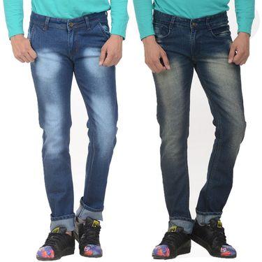 Pack of 2 Forest Plain Slim Fit Jeans_Jnfrt1314 - Blue